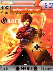Gaara Clock SWF theme screenshot