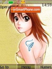 Anime Girl 15 theme screenshot