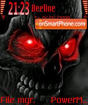 Red Eye Skull theme screenshot