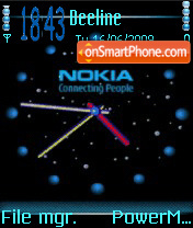 Nokia Clock Animated theme screenshot
