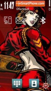 Red Alert 04 theme screenshot