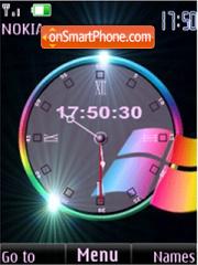 SWF windows clock anim es el tema de pantalla