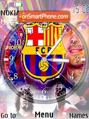 Barca Clock theme screenshot