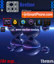 Blue Abstract theme screenshot