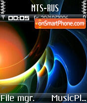 Abstract theme screenshot