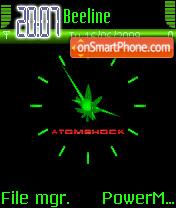 Clock Anime Weed theme screenshot