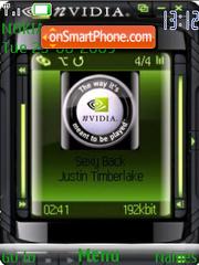 Nvidia Player theme screenshot