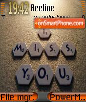 I Miss You 05 theme screenshot