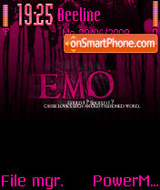 Emo Pink theme screenshot