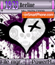 Emo Heart 02 theme screenshot