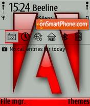 Adobe 01 es el tema de pantalla