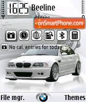 BMW M3 white FP1 theme screenshot