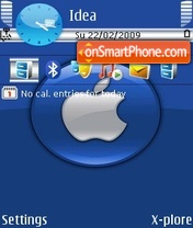 Apple Blue theme screenshot