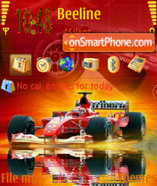 Animated F1 Nokia theme screenshot