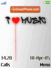 Love music es el tema de pantalla