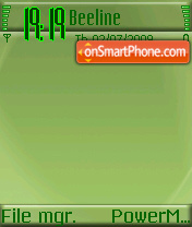 Greenie 01 theme screenshot