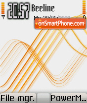 Touch Orange Mod Os7 theme screenshot