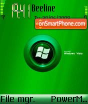 Vista Green Leaf theme screenshot