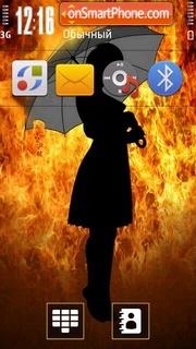 Firegirl 01 es el tema de pantalla