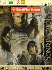 Lord Of The Ring 01 es el tema de pantalla