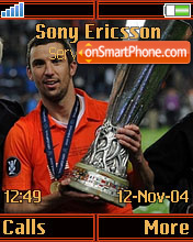 Shakhtar UEFA CUP K750 theme screenshot