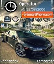 Audi R8 black es el tema de pantalla