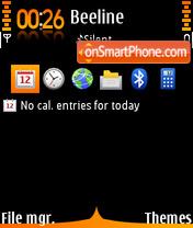 Black Orange Touch theme screenshot