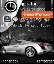 Audi R8 Silver es el tema de pantalla