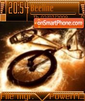 Fire Bike theme screenshot