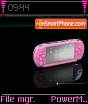 Psp In Pink theme screenshot