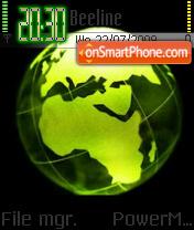 Greenglobe es el tema de pantalla