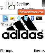 Adidas Logo es el tema de pantalla