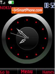 SWF red analog clock theme screenshot