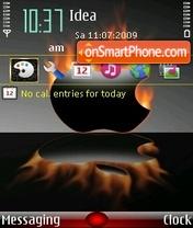 Mac on fire es el tema de pantalla