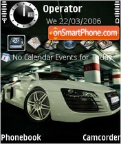 Audi R8 White es el tema de pantalla