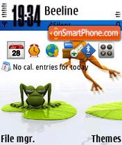 Frogs 01 theme screenshot
