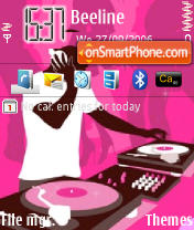 Pink DJ Roky theme screenshot