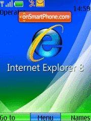 Internet explorer 8 es el tema de pantalla
