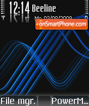 XM Blue theme screenshot