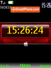 SWF iPhone style clock es el tema de pantalla