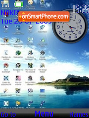 Vista Multi icons SWF clock theme screenshot