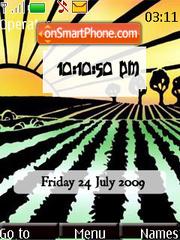 Agriculture SWF Clock theme screenshot