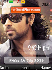 Awarapan SWF Clock theme screenshot