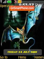 Bats SWF Clock theme screenshot