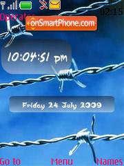 Boundaries SWF Clock theme screenshot