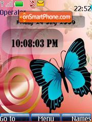 Butterfly SWF Clock es el tema de pantalla