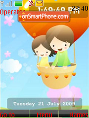 Children's Day SWF Clock tema screenshot