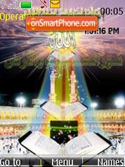 Islamic SWF Clock es el tema de pantalla