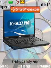 Capture d'écran Lap Top SWF Clock thème
