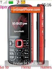 Nokia 5320 Xpress Music SWF Clock es el tema de pantalla